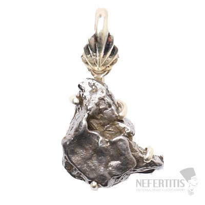 Meteorit Campo del Cielo přívěsek stříbro Ag 925 P772