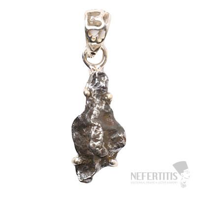 Meteorit Campo del Cielo přívěsek stříbro Ag 925 P821