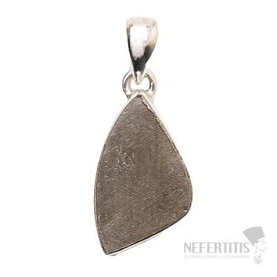 Meteorit Gibeon přívěsek stříbro Ag 925 P232