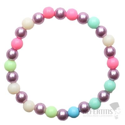 Dětský náramek s barevnými perličkami z akrylátu