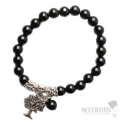 Onyx náramek extra korálkový se stromem života