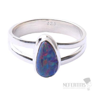 Opál australský prsten stříbro Ag 925 R1568
