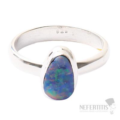 Opál australský prsten stříbro Ag 925 R1611