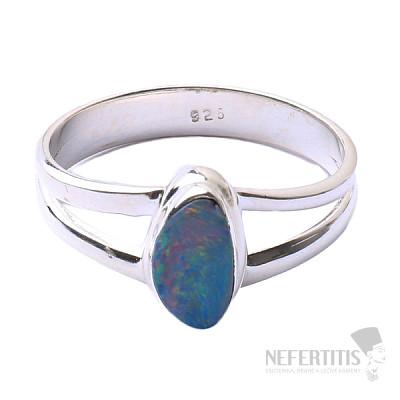 Opál australský prsten stříbro Ag 925 R1619