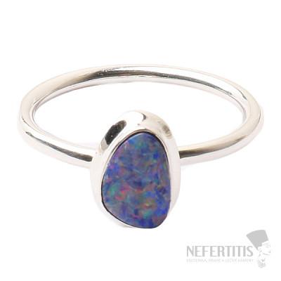 Opál australský prsten stříbro Ag 925 R1647