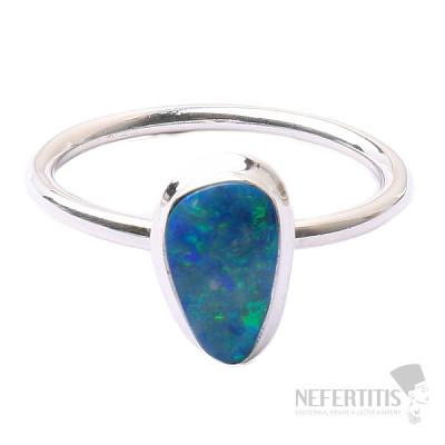 Opál australský prsten stříbro Ag 925 R1672