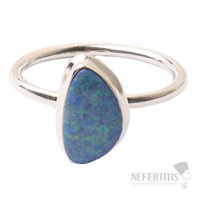 Opál australský prsten stříbro Ag 925 R1676