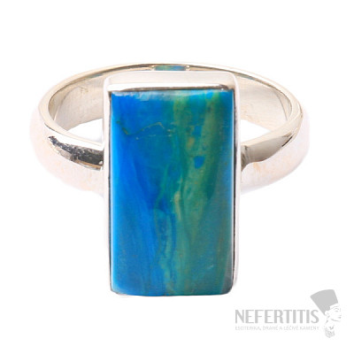 Opál modrý peruánský prsten stříbro Ag 925 R27
