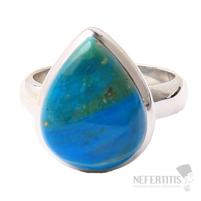 Opál modrý peruánský prsten stříbro Ag 925 R28