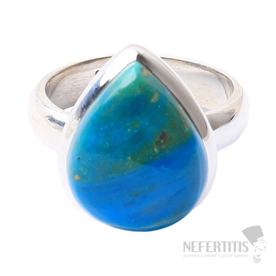 Opál modrý peruánský prsten stříbro Ag 925 R39