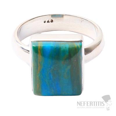 Opál modrý peruánský prsten stříbro Ag 925 R53