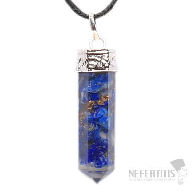 Orgonit přívěsek krystal s lapisem lazuli