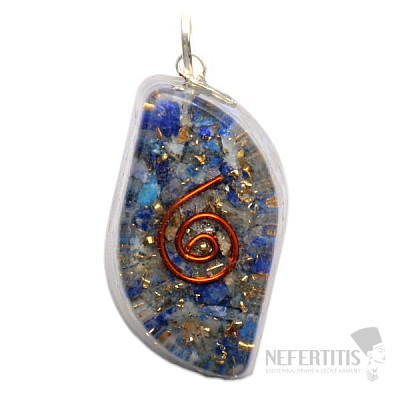 Orgonit přívěsek vlnka s lapisem lazuli
