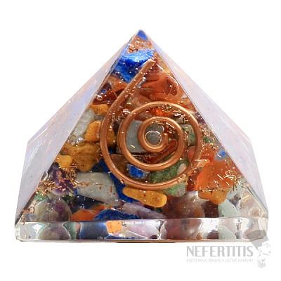 Orgonit pyramida čakrová