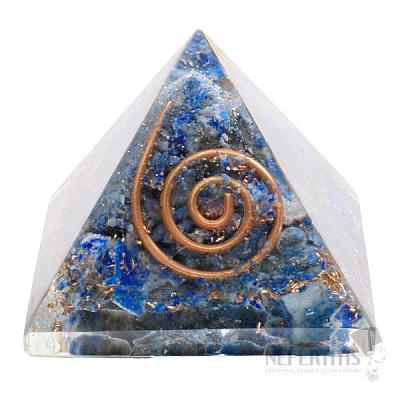 Orgonit pyramida s lapisem lazuli