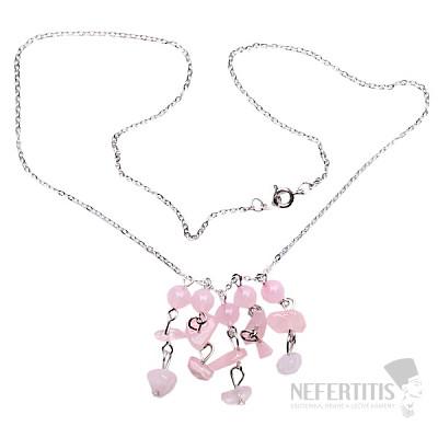 Růženín náhrdelník sekaný na řetízku