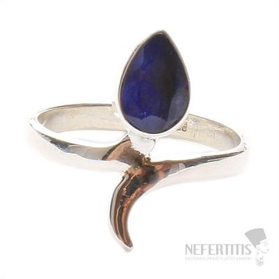 Safír indický prsten stříbro Ag 925 LU 990