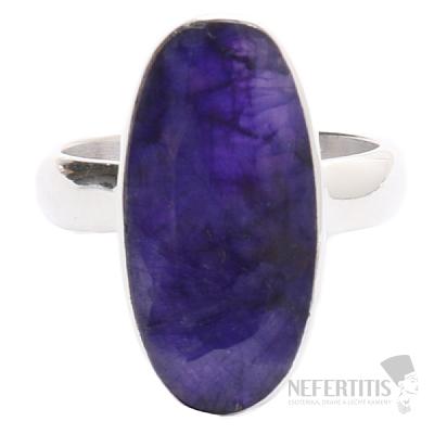 Safír indický prsten stříbro Ag 925 R1275
