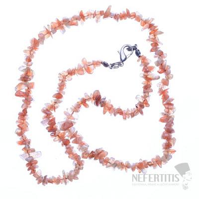 Sluneční kámen náhrdelník sekaný