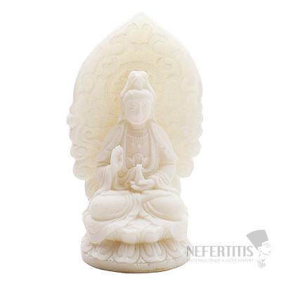 Feng Shui Kuan Jin soška z alabastru