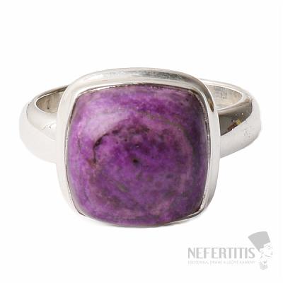 Sugilit prsten stříbro Ag 925 R14