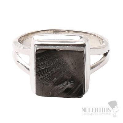 Šungit prsten stříbro Ag 925 R816