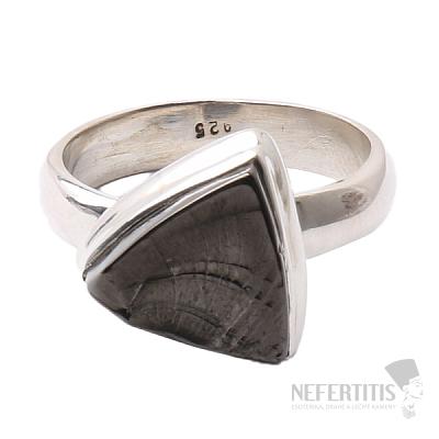 Šungit prsten stříbro Ag 925 R817