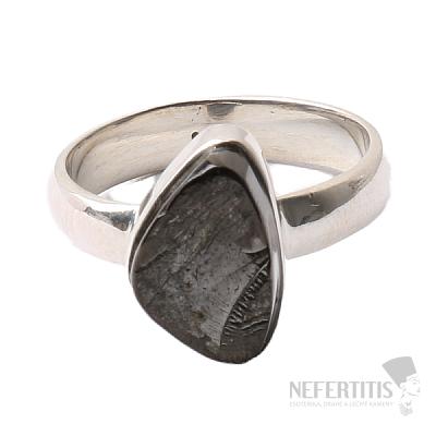 Šungit prsten stříbro Ag 925 R839