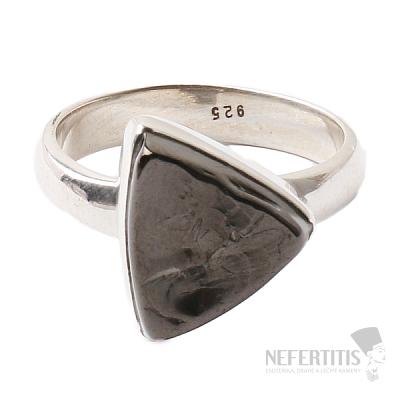 Šungit prsten stříbro Ag 925 R846