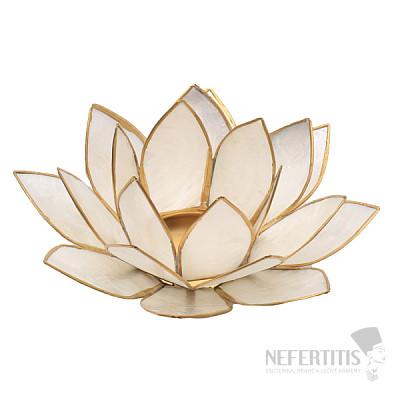 Svícen lotos perleťověbílý