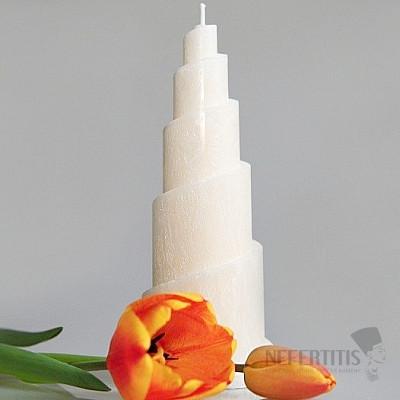 Svíčka pro 7. čakru spirála