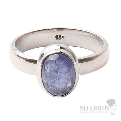 Tanzanit prsten stříbro Ag 925 R334