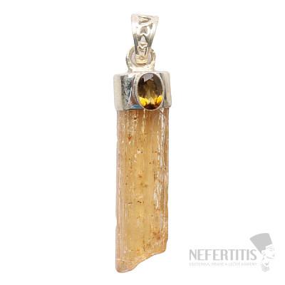 Topaz zlatý Imperial krystal přívěsek Ag 925 P23