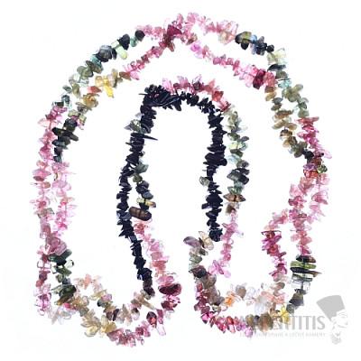 Turmalín multicolor náhrdelník sekaný