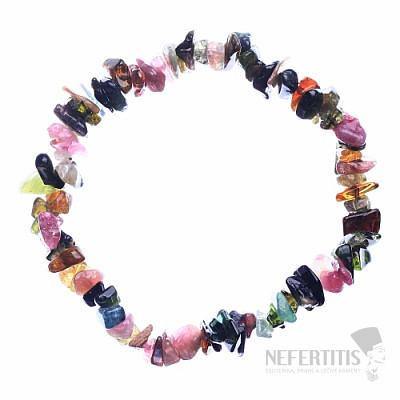 Turmalín multicolor náramek sekaný