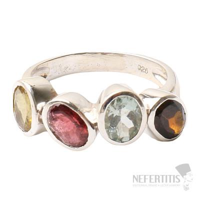 Turmalín prsten stříbro Ag 925 R572