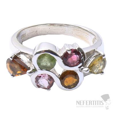 Turmalín prsten stříbro Ag 925 R257