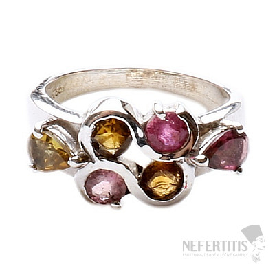 Turmalín prsten stříbro Ag 925 TR247