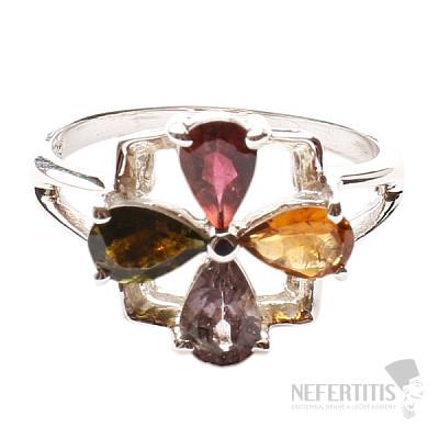 Turmalín prsten stříbro Ag 925 TR845