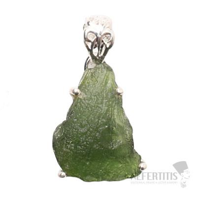 Vltavín přívěsek stříbro Ag 925 P1354