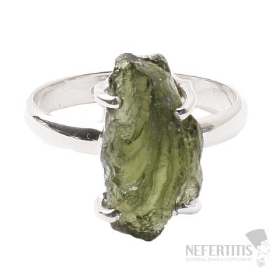 Vltavín prsten stříbro Ag 925 R1020