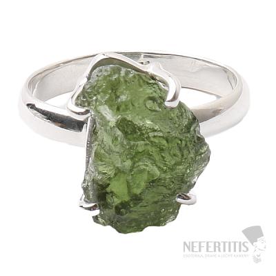 Vltavín prsten stříbro Ag 925 R1071