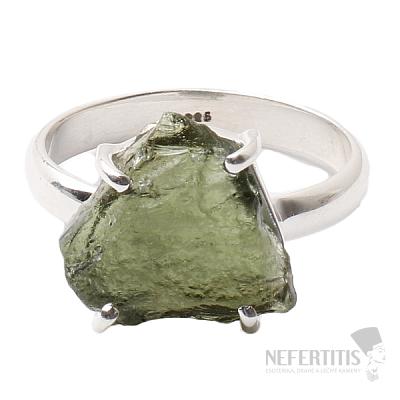 Vltavín prsten stříbro Ag 925 R1072