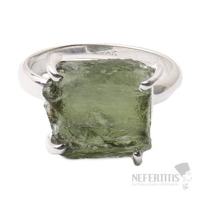 Vltavín prsten stříbro Ag 925 R972