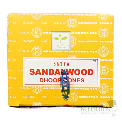 Vonné kužely Satya Sandalwood Dhoop Cones