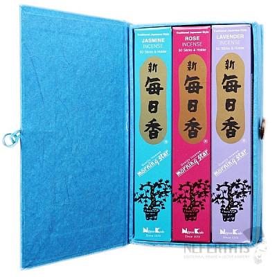 Vonné tyčinky Nippon Kodo Morning star dárková sada květinové vůně