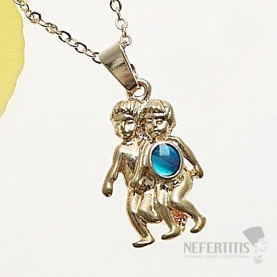 Znamení Blíženci přívěsek zlatá barva