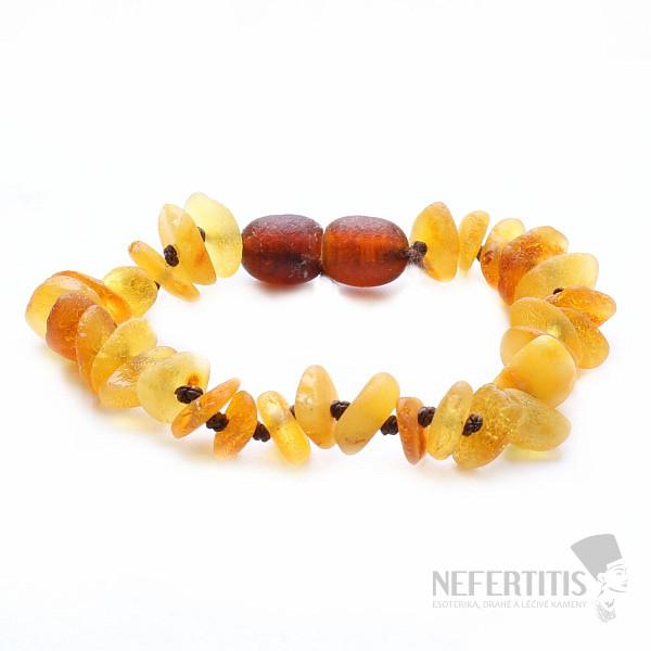 47ea1ce33 Jantarový náramek pro děti extra v barvě medu | NEFERTITIS.cz