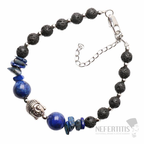 b6682cd96 Atraktivní náramek z lávového kamene a lapisu lazuli | NEFERTITIS.cz