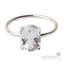 Topaz bílý prsten stříbro Ag 925 R26
